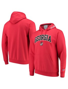 Georgia Bulldogs Champion Team Arch & Logo Pullover Hoodie – Red by Champion