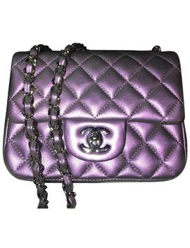 classic-flap-mini-square-iridescent-purple-calfskin-leather-cross-body-bag by chanel