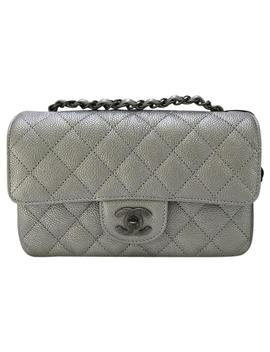Classic Flap Mini Sliver Caviar Cross Body Bag by Chanel