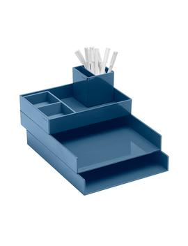 Slate Blue Poppin Letter Tray Storage Kit by Container Store