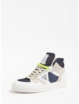 Bruce Real Leather High Sneaker by Guess