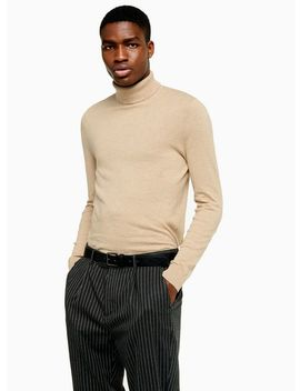 Stone Marl Roll Neck by Topman