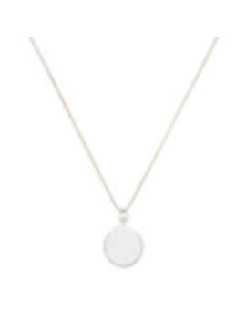 Long Large Circle Sterling Silver Pendant by Sophie Buhai