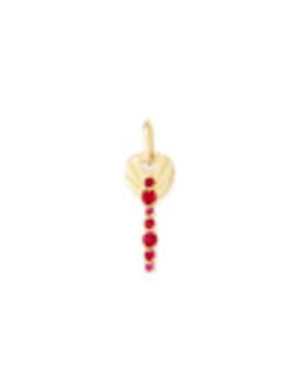 Amaranthus Key Charm With Rubies by Michelle Fantaci