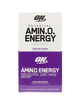 Optimum Nutrition, Essential Amin.O. Energy, Concord Grape, 6 Stick Packets, 0.31 Oz (9 G) Each by Optimum Nutrition