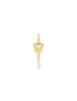Lock Box Key Charm With White Diamonds by Michelle Fantaci