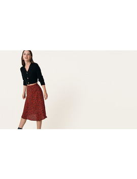 Black And Red Floral Fran Midi Skirt        Boom!You're With Us Now. by Nobody's Child