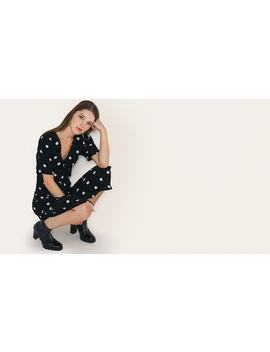 Black And White Spot Alexa Midi Dress        Boom!You're With Us Now. by Nobody's Child