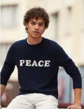 Wool And Cashmere Sweater With Message by Sandro Eshop