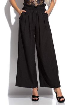 Wide Eyed High Waisted Palazzo Pants by Go Jane