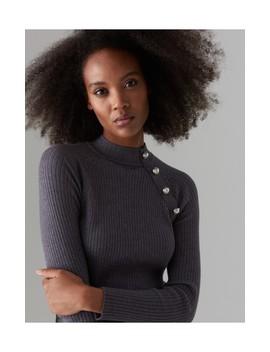 prążkowany-sweter-z-półgolfem by mohito