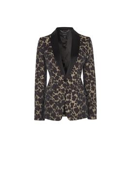Leopard Jacquard Blazer by Jd030