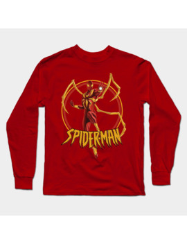 iron-spider-comic-long-sleeve-t-shirt by k4k7uz