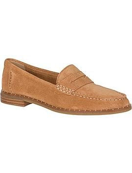 Women's Seaport Penny Suede Stud Loafers by Sperry