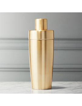 Neil Champagne Gold Cocktail Shaker by Crate&Barrel