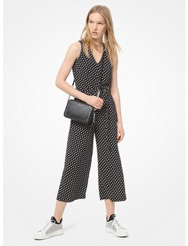 Dot Crepe Belted Jumpsuit by Michael Michael Kors