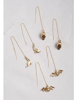Something Wicked Threader Earring Set by Modcloth