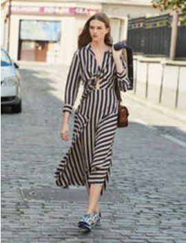 Long Dress With Striped Design by Sandro Eshop
