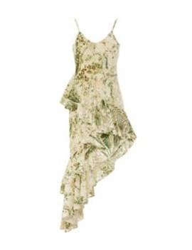 Emerald Multi Floral Dress by Hemant & Nandita
