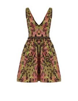 Arielle Leopard Dress by Marchesa Notte