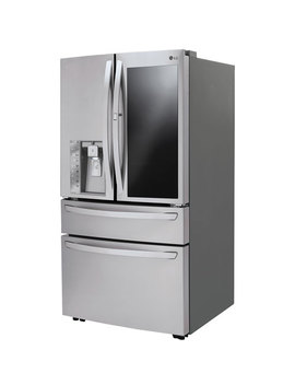 """Lg 36"""" 29.7 Cu. Ft. Insta View French Door Refrigerator With Ice System (Lmx30796 S)   Stainless Steel by Best Buy"""