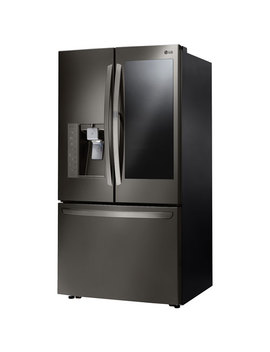 """Lg 36"""" 29.6 Cu. Ft. Insta View French Door Refrigerator (Lfxs30796 D)   Black Stainless by Best Buy"""