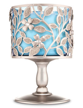 Dogwood Pedestal   3 Wick Candle Holder    by Bath & Body Works