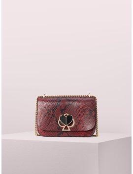 Nicola Snake Embossed Twistlock Medium Convertible Shoulder Bag by Kate Spade