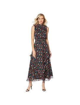 """<Span Class=""""Callout Exclusive"""">Exclusive!</Span>   G By Giuliana Printed Ruffle Maxi Dress by G By Giuliana"""