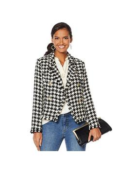 """<Span Class=""""Callout Exclusive"""">Exclusive!</Span>   G By Giuliana Herringbone Blazer by G By Giuliana"""