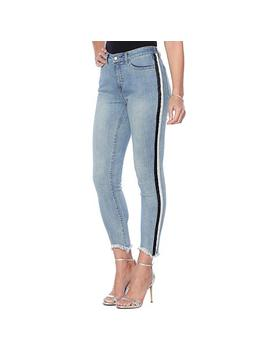 """<Span Class=""""Callout Exclusive"""">Exclusive!</Span>   G By Giuliana Downtown Denim Side Stripe Skinny Jean by G By Giuliana"""