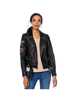 """<Span Class=""""Callout Exclusive"""">Exclusive!</Span>                  G By Giuliana Faux Leather Jacket by G By Giuliana"""