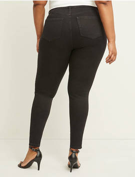 Curvy Fit High Rise Skinny Jean   Black by Lane Bryant