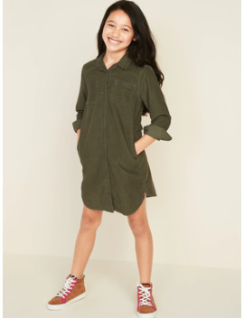 Corduroy Shirt Dress For Girls by Old Navy