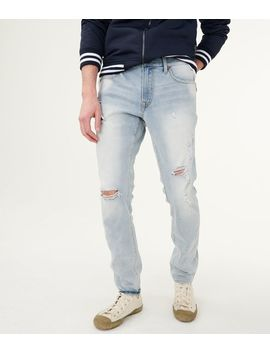 Flex Effects Super Skinny Destroyed Bleach Wash Jean by Aeropostale