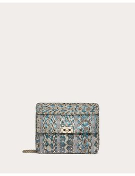 Medium Rockstud Spike.It Bag In Elaphe With Inlay Detail by Valentino