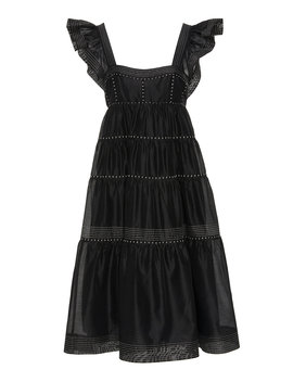 Rosalie Tiered Cotton Silk Blend Dress by Ulla Johnson