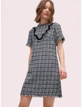 Bicolor Scallop Tweed Dress by Kate Spade
