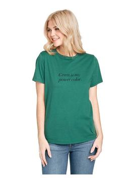 green-is-my-power-color-tee by bando