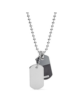 Duo Dog Tag Stainless Steel Necklace by Fossil