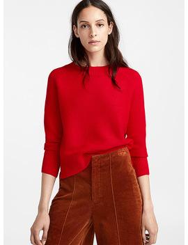 Mini Wave Knit Raglan Sweater by Icône