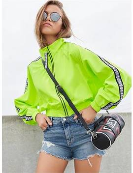 Neon Logo Trim Windbreaker by Guess