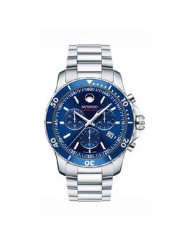 Men's Movado Series 800® Chronograph Watch With Blue Dial (Model: 2600141) by Zales