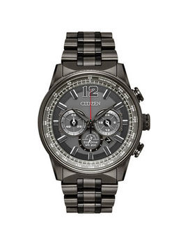 Men's Citizen Eco Drive® Nighthawk Grey Ip Chronograph Watch With Grey Dial (Model: Ca4377 53 H) by Zales