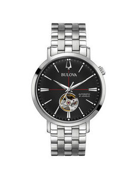 Men's Bulova Automatic Watch With Black Dial (Model: 96 A199) by Zales
