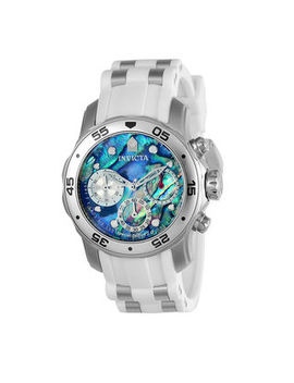 Men's Invicta Pro Diver Chronograph Strap Watch With Abalone Dial (Model: 24829) by Zales