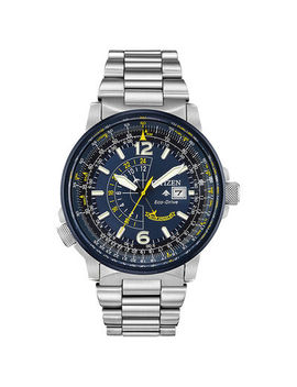Men's Citizen Eco Drive® Blue Angels Promaster Nighthawk Watch With Blue Dial (Model: Bj7006 56 L) by Zales