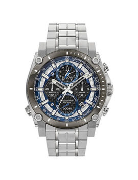 Men's Bulova Precisionist Chronograph Watch With Black Dial (Model: 98 B316) by Zales