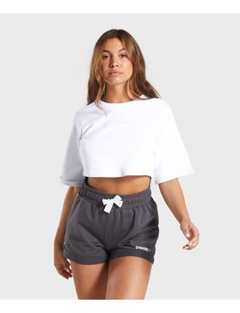 Signature Boxy Cropped Sweater by Gymshark
