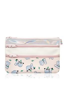 Koala Triple Zipper Beauty Bag by Sportsgirl